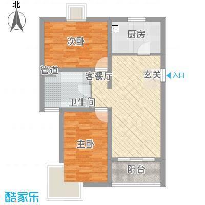 凤凰公社6.76㎡B户型2室2厅1卫1厨