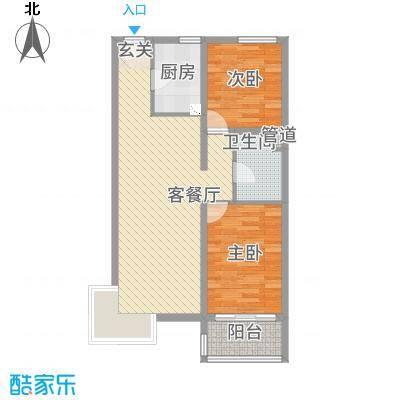 凤凰公社3.22㎡D户型2室2厅1卫1厨