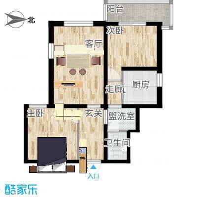 2室1厅西