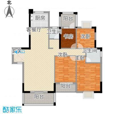 华发国际花园户型2室
