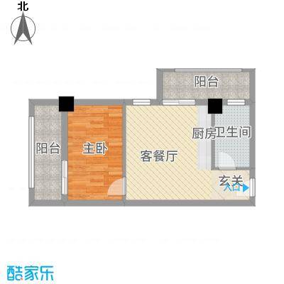 古越扬帆・城市广场B1标准层户型