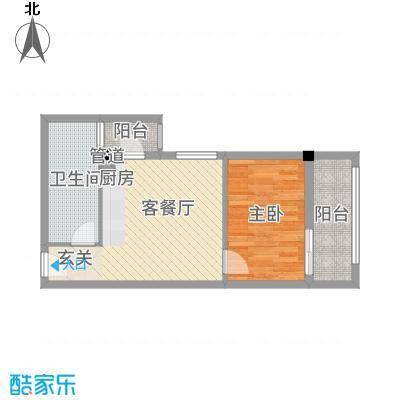 古越扬帆・城市广场B2B2标准层户型
