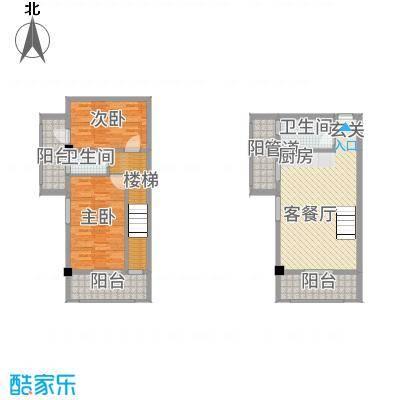 古越扬帆・城市广场B1楼中楼户型