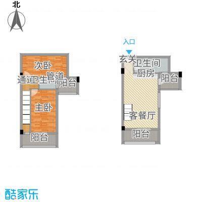 古越扬帆・城市广场B3楼中楼户型