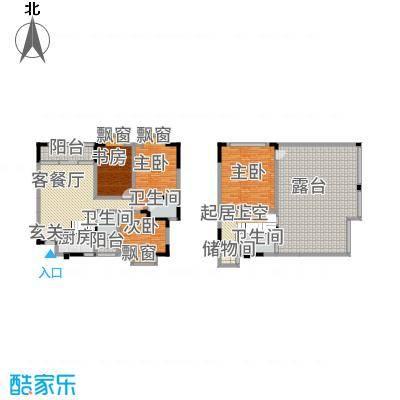 兴苑翠薇园162.00㎡F跃户型4室2厅2卫1厨