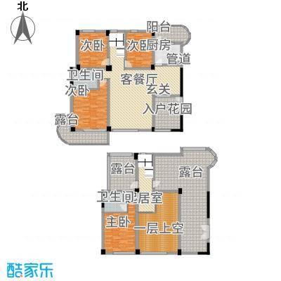 CLD未来城四期116.51㎡L1跃层户型4室2厅2卫1厨