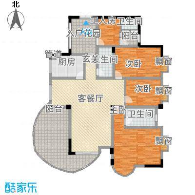 CLD未来城四期3175.84㎡L3户型4室2厅3卫1厨