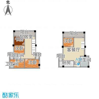 古越扬帆・城市广场B6楼中楼户型