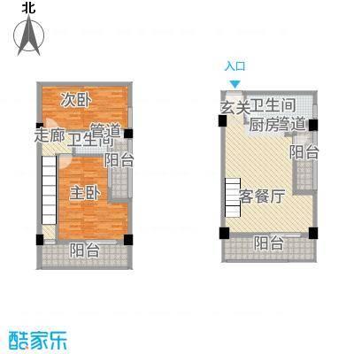古越扬帆・城市广场B5楼中楼户型