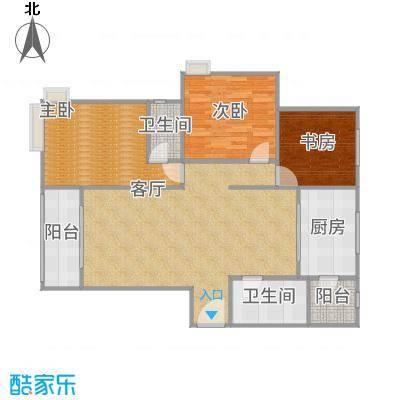 5-A三室两厅两卫,建筑面积约:134.59㎡-副本