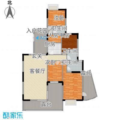 观山湖1号178.66㎡11栋平层庭院洋房3-5层一单元户型4室2厅3卫1厨
