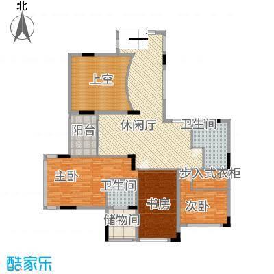 观山湖1号33.20㎡17栋底层亲地叠墅1号二层户型6室3厅5卫1厨
