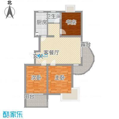 福星新城114.00㎡户型3室2厅1卫1厨