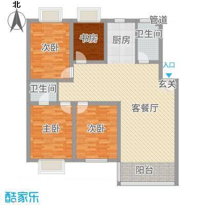 吴城仕家142.00㎡户型3室2厅2卫1厨