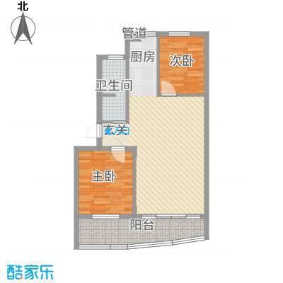 新力凤凰城户型2室2厅1卫1厨