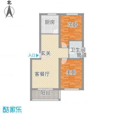 金河雅苑12.00㎡户型2室2厅1卫1厨