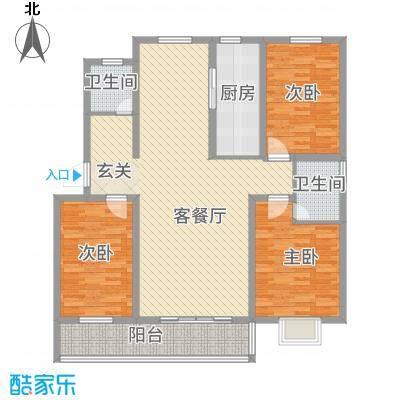 万泰颐轩152.24㎡日照户型