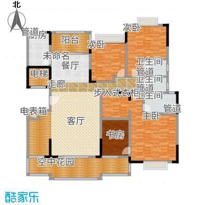 星湖尚景苑193.18㎡2号楼02户型4室2厅3卫-副本