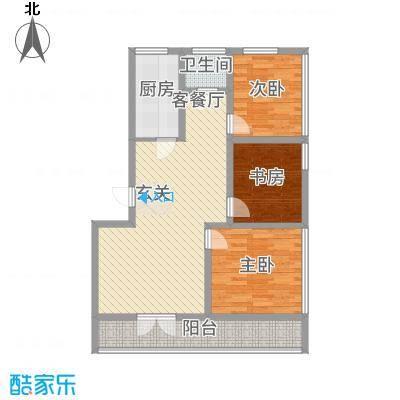 润生佳苑112.00㎡户型3室2厅1卫1厨
