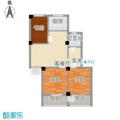 润生佳苑6.00㎡未标题-1户型3室2厅1卫1厨