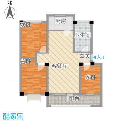润生佳苑123.00㎡户型3室2厅1卫1厨