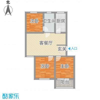 润生佳苑6.60㎡户型3室2厅1卫1厨