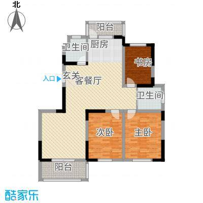 翔宇文苑137.00㎡户型3室