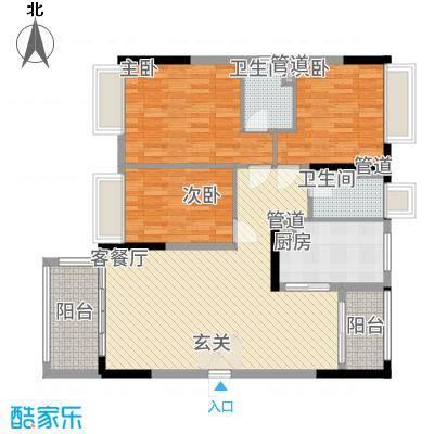 怡翠馨园112.65㎡嘉文苑4座(01单位)户型3室2厅2卫