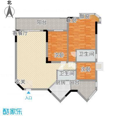 金翠峰1号5户型3室2厅2卫1厨