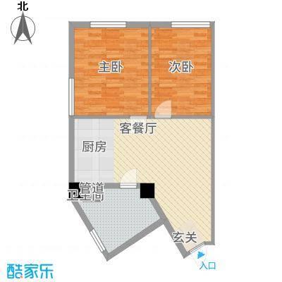阳光VISA二居室户型2室1厅1卫1厨
