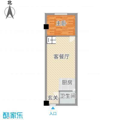 阳光VISA户型1室1厅