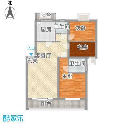 美丽嘉园115.00㎡户型3室