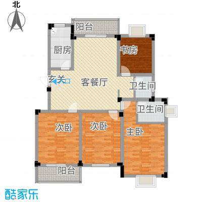 高尔夫家园148.40㎡户型4室2厅2卫1厨