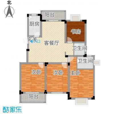 高尔夫家园135.18㎡户型4室2厅2卫1厨