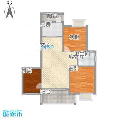 鸿欣清枫苑8.43㎡C户型3室2厅1卫1厨