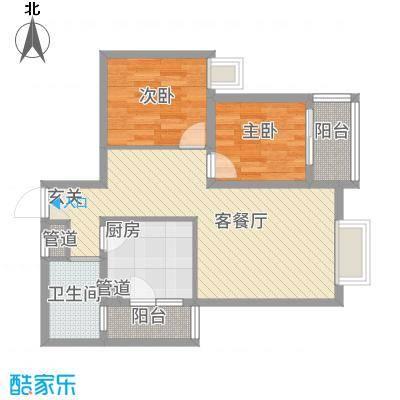 骏逸东山二期174.20㎡J1户型2室2厅1卫1厨
