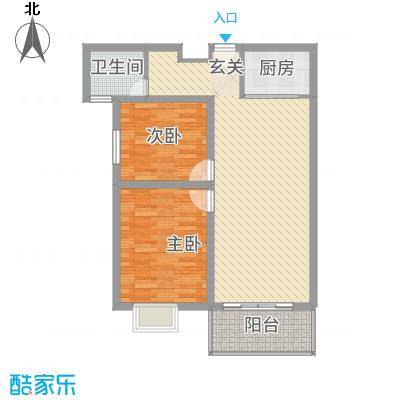 金宝莱6.00㎡D户型2室2厅1卫1厨