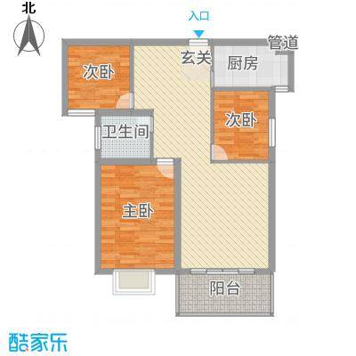 金宝莱C户型3室2厅2卫1厨