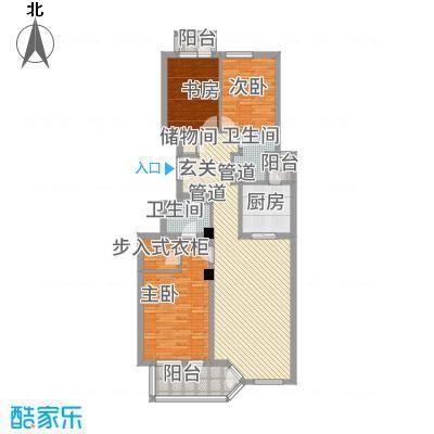 网师花苑135.00㎡户型3室
