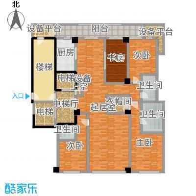 绿城黄浦湾235.00㎡5B户型4室2厅-副本