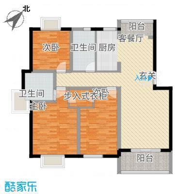 万丽花园125.00㎡户型3室2厅2卫1厨