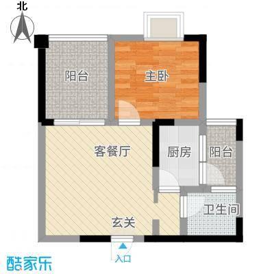 七彩城顺兴苑151.12㎡1-B户型1室1厅1卫1厨