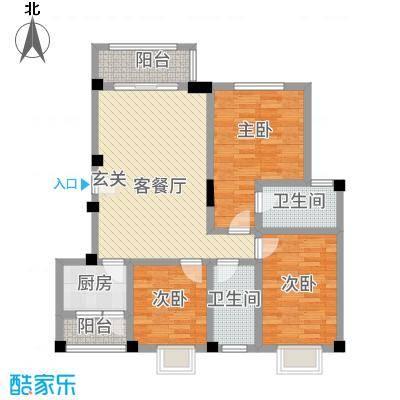 七彩城顺兴苑317.86㎡3-D户型3室2厅2卫1厨