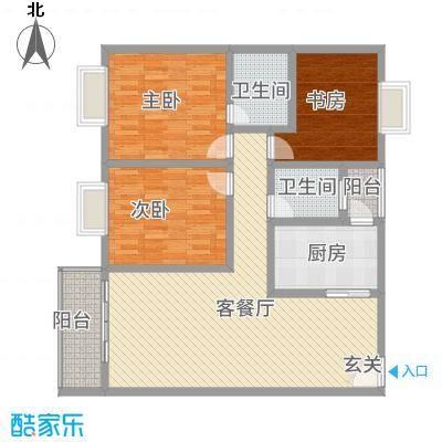 神州时代名城118.56㎡C2-2户型3室2厅2卫