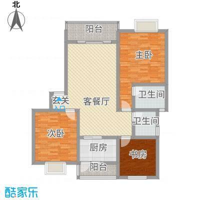 神州时代名城11.80㎡C2-3户型3室2厅2卫