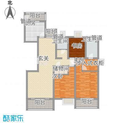 金枫苑阳光水岸14.00㎡户型3室2厅2卫1厨