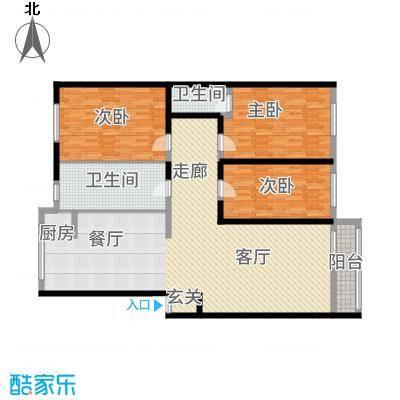 瑞江花园菊苑146.00㎡面积14600m户型-副本