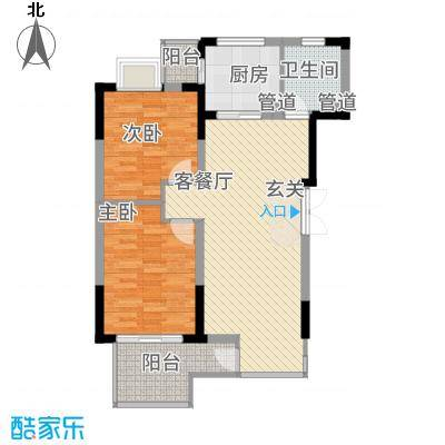 联泰香域滨江81.00㎡户型2室