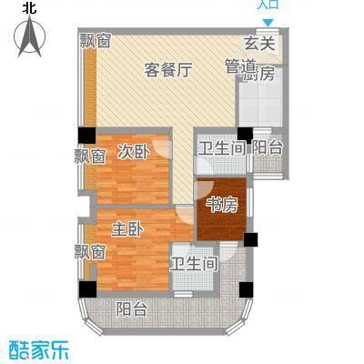 长兴江岸精典115.52㎡1号楼2户型