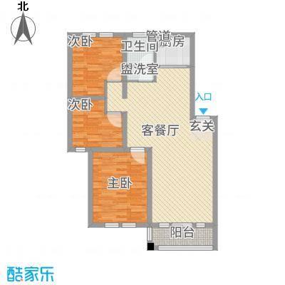 公园天下户型3室1厅1卫1厨